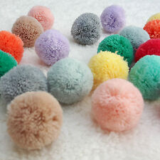 50pcs/lots Pom Pom 30mm Made of Acrylic Yarn Craft Supplies by RIBBONNKIDS