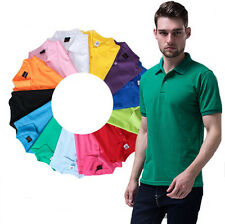 Casual Cotton Sports T Shirt Men's Hot Polo Tee Short Sleeve T Shirt Slim Fit
