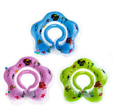 New Swimming Circle Safety Baby Newborn Aid Toy Bath Float Ring Neck Inflatable
