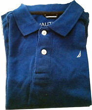 Nautica Boys Tops Shirts Polo Size M 5-6 Size XL 7X Blue Short Sleeves Everyday