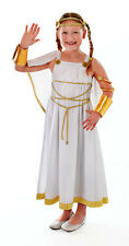 GIRLS GREEK ROMAN GODDESS WHITE ANGEL BOOK WEEK FANCY DRESS COSTUME NEW 6-8-10