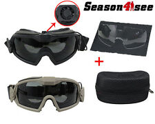FMA Tactical Airsoft Eye Protective Goggles Dustproof Windproof Glasses with Fan