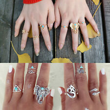 Silver/Gold Bohemian Style Ring Set 8pcs Knuckle Rings Turkish Fashion Jewelry