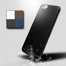 Carbon Fiber Pattern TPU Case Allergy-proof Cover for Apple iPhone 7 / 7 Plus