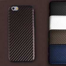 Allergy-proof Carbon Case Fiber Pattern TPU Cover for Apple iPhone 7 / 7 Plus