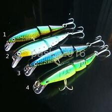 Fishing Lure Swimbait Baits Crankbait Sinking 3 Jointed Sections Hook Tackle
