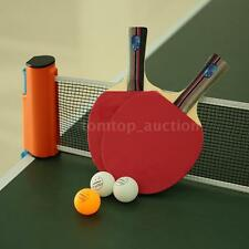 New Stiga Classic 1 Pair of Ping Pong Paddles+3 Balls Racket+1 Net Set AC N1C7