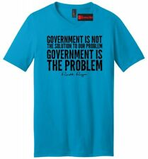 Government Is Not The Solution Political Mens VNeck T Shirt Trump Republican Tee