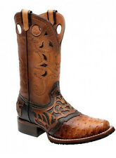2I03A1 Rodeo Urban Ostrich boots made by Cuadra