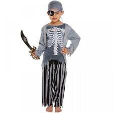 Childrens Zombie Pirate Ghost Ship Skeleton Halloween Fancy Dress Costume Outfit