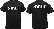 Black SWAT Team Double Sided Official Raid T-Shirt