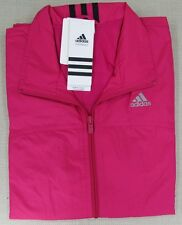 ADIDAS Women's Athletic Performance Three Stripe Wind Jacket Pink SM, M NEW