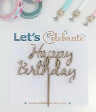 Wooden Happy Birthday Cake Topper - Birthday Boy Birthday Girl Cake Topper