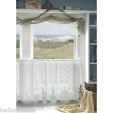 NEW - White Lighthouse Lace Tier Curtains by Heritage Lace