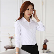 Blouse Stylish Women's New Spring/Summer Long Sleeve Shirt Hot Top White Shirt