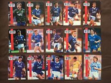 1990 1991 Proset Football Cards Everton Complete All 15