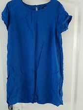 ladies blue top or dress size 14