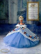 Miss July, Annie's Royal Ballgowns Collection crochet patterns fit Barbie dolls