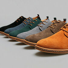 Gift Suede European style leather Shoes Men's oxfords Casual Multi Size Shoes
