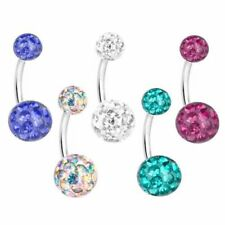 Maternity Belly Bar Flexible Crystal Ball Pregnancy Navel Ring Belly Button Ring