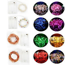 Battery Powered Fairy String Lights Christmas Lights 10-100 LED Party Xmas Decor