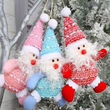 New 1Pc Christmas Santa Claus Xmas Tree Hanging Ornaments Home Party Decorations