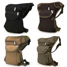 Pro Canvas Drop Waist Leg Bag Motorcycle Rider Belt Waist Fanny Pack Bags