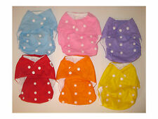 2 Baby Cloth Reusable Washable Diapers Covers PLUS 4 Liners Inserts - 6 pieces