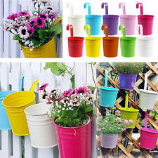 Metal Iron Hanging Balcony Garden Plant Flower Pot Home Decor Ornament SE