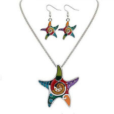 Necklace Resin Starfish Drip Bohemia Hot Jewelry Sets Vintage Beach Earrings