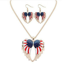 Earrings Stars and Stripes Hot Jewelry Sets Resin Wings Necklace Bohemia Drip