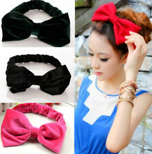 New Velvet Elastic Hairband Bow Korean Style Adjustable Cute Lovely Headband