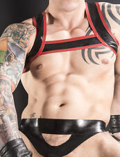Rubber Men's Lower Body HARNESS, with ring, 0.8mm Latex