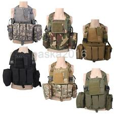 Military Tactical SWAT MOLLE Airsoft Combat Assault Vest Hunting Jacket Rucksack