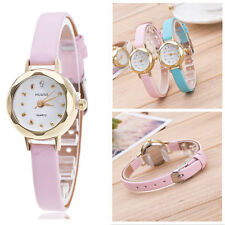 Lady Girls Weave Butterfly Leather Bracelet Woman Quartz Wrap Retro Wrist Watch