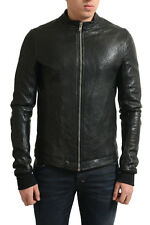 Rick Owens Men's Black 100% Lamb Leather Full Zip Motorcycle Jacket US M EU 50