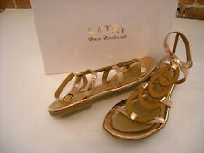 Kathy Van Zeeland Jerry Rose Gold Circle Design Gladiator Sandal NEW