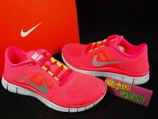 2012 Nike Wmns Nike Free Run 3 Hot Punch Silver Running 510643-600