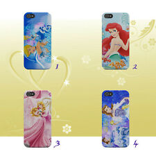 Disney Princess Belle Ariel Auror for iPhone & Samsung Hard Phone Case Cover