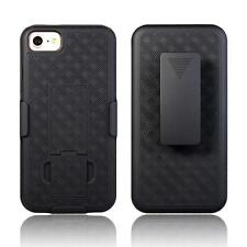 BLACK Hard PC Belt Clip Holster Stand+Box Kickstand Case Cover For Apple IPhone