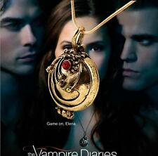 New The Vampire Diaries Elena's Vervain Antique Locket Vintage Necklace Cosplay
