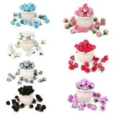 50pcs Artificial Silk Rose Fake Flower Heads Bulk Wedding Party Home Decor