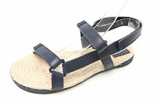 TORY BURCH navy blue leather espadrille strappy sandals sz. 8-8.5 NEW! $199