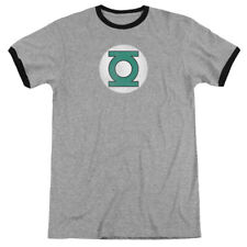 Green Lantern Distressed Logo DC Comics Offically Licensed Adult Ringer T Shirt
