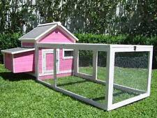 Chicken Coop Somerzby Pink Cottage Rabbit Hutch Guinea pig cage large run
