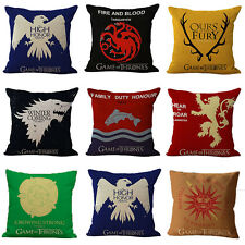 Game of Thrones Square Cotton Linen Cushion Cover Pillowslip Home Sofa Bed Decor