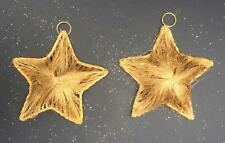2 Pack Large Gold Golden Weave Hanging Stars Christmas Xmas Tree Decoration