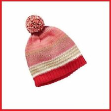 NWT OLD NAVY Patterned Knit Red Hat For Baby/Infant Girl 0-6 M