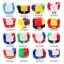 ANSELF Flag Football Soccer Fans Wig Head Cap European Cup FIFA World Cup Z9F4