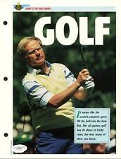 Jack Nicklaus Golf Signed Authentic 8X10 Magazine Page Photo JSA #D70594